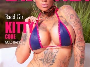 am the new covergirl of BADD mag. Get your copy now.-  Link by Kitty Core