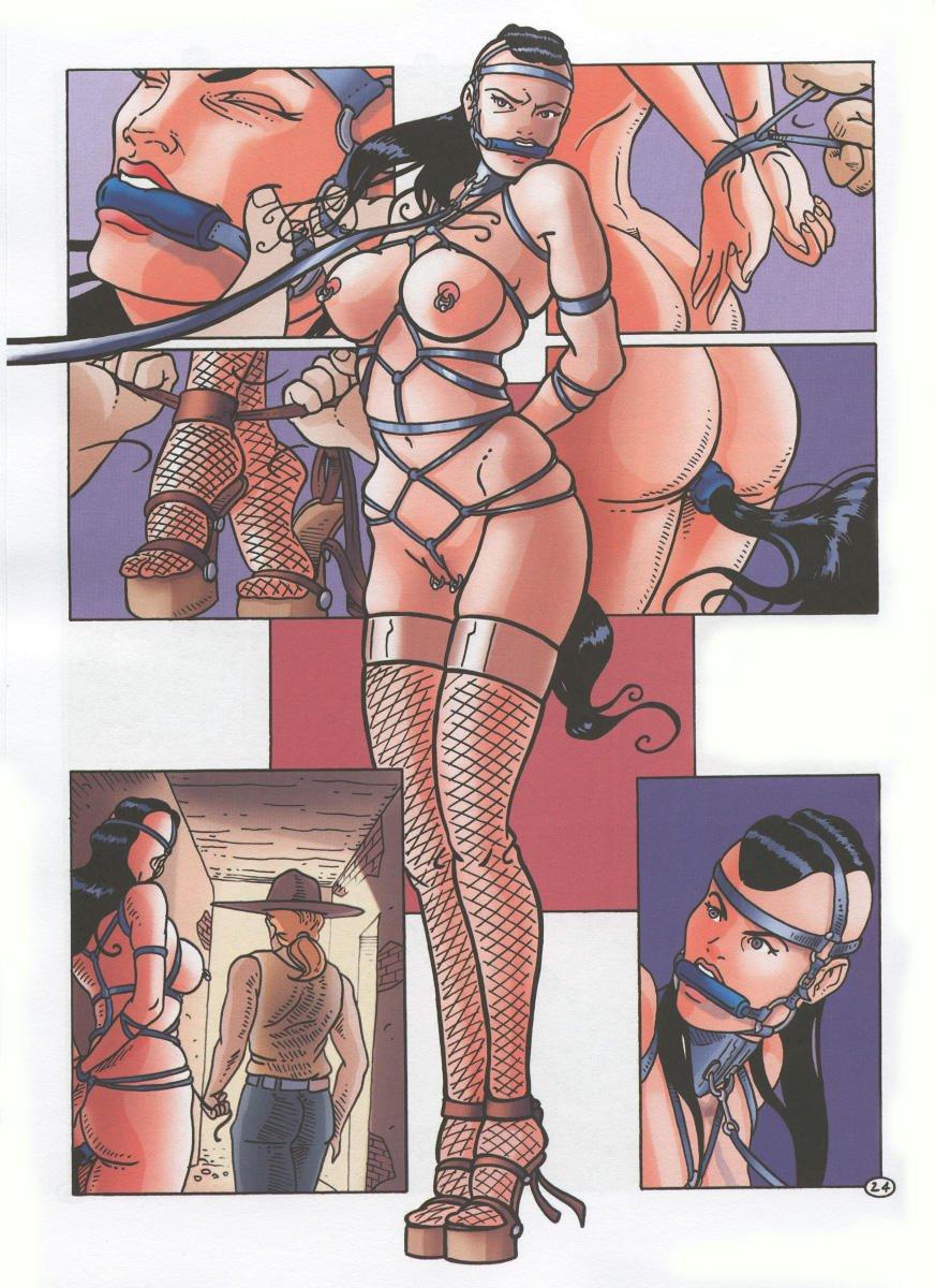 Bondage cowgirl comic