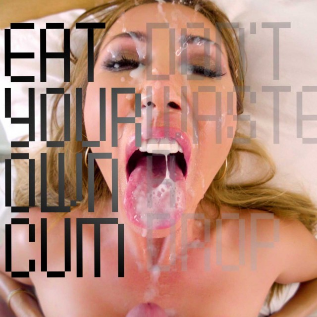 Cum Eating Instruction