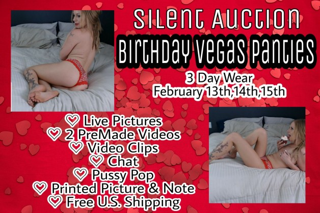▪WIN my Birthday Vegas Panties▪  Silent Auction- Starting...