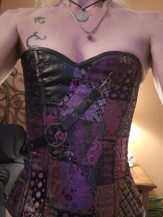 learning to tie myself into a corset-  Album in topic Small Boobs by DirtyHeavenlyAngel