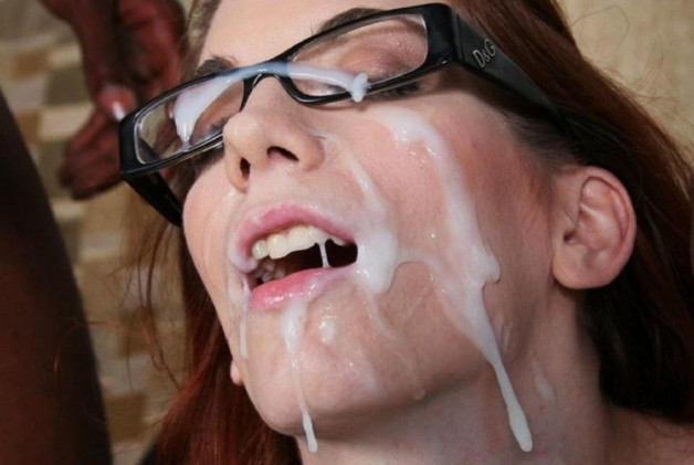 Big load on her glasses-  Photo in topic Facial Cumshot by Antti2