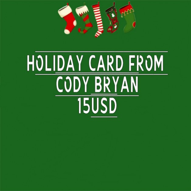 Holiday card from me!! Let me know if interested! All cards...