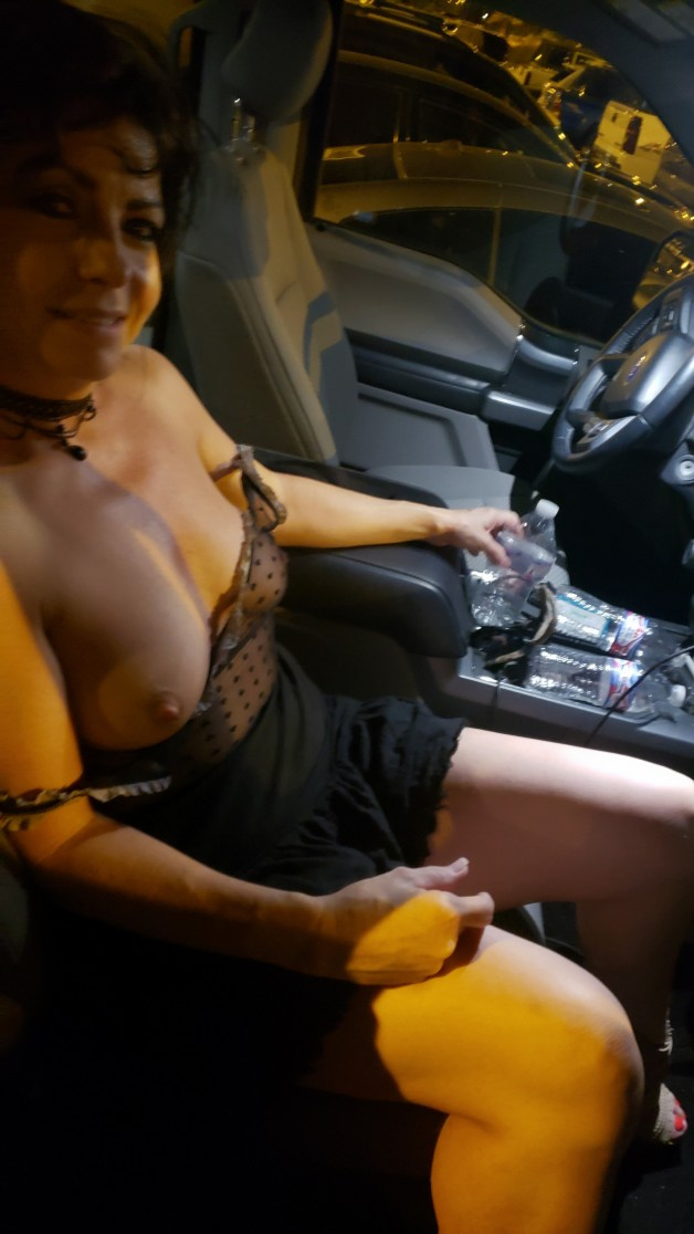"""My sexy #Hotwife #Vixen. After a little """"fun"""" in the parking..."""