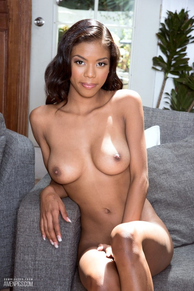 Stunning ebony goddess Nia Nacci is the material that make...