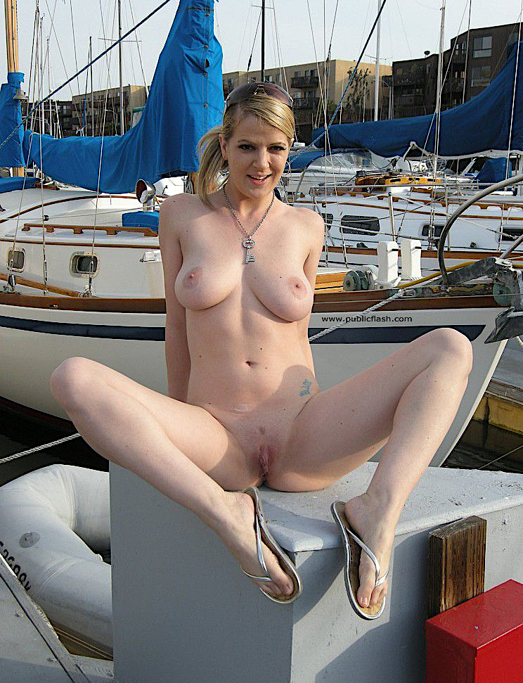 Lucie Lee Naked On The Dock