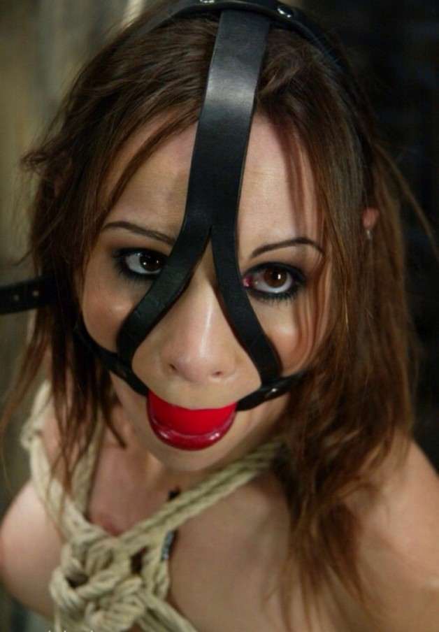 Black leather harness silicone mouth ball gag bdsm gear slave master bondage toy