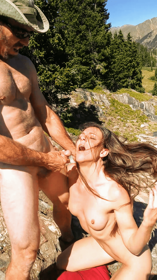 hubby and i embracing our natural urges 😈 #bj #outdoors...