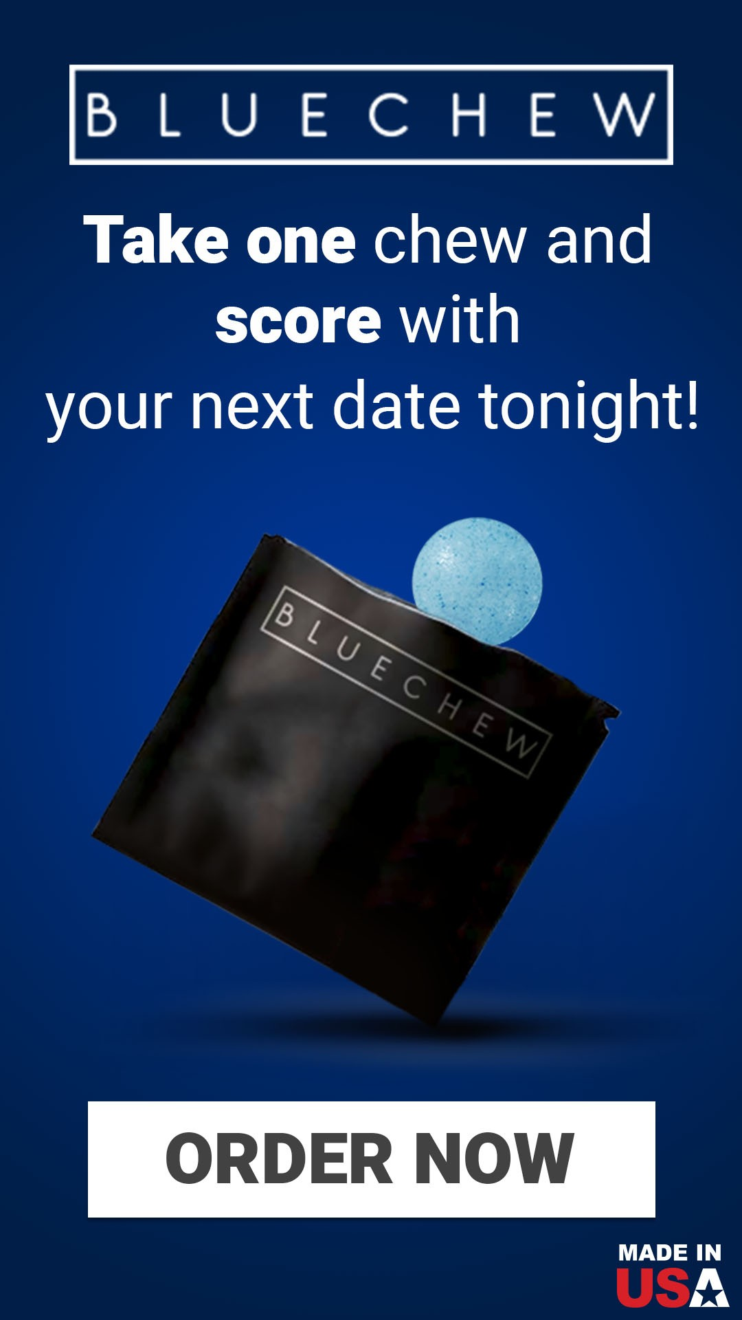 Do you want better sex? Try BlueChew! 😍 Get one month free...
