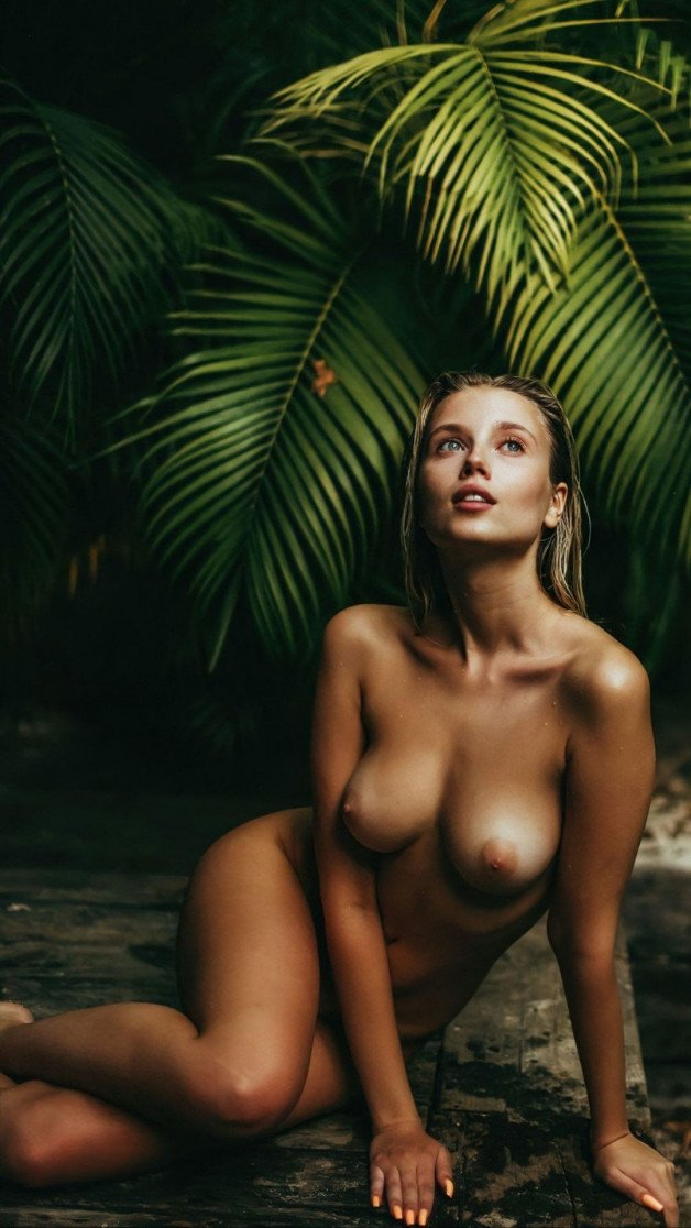 Tropical Pool  #sexy #naked #nude #boobs #nipples #wet #ass...