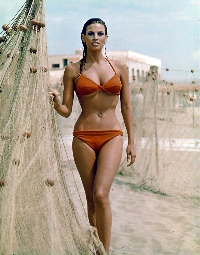 Raquel Welch On The Beach and In Her Prime.
