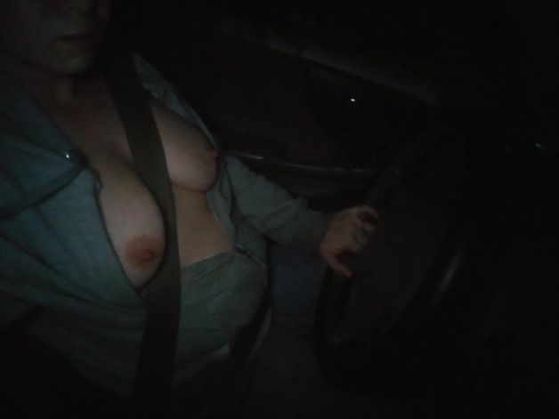 driving home from work with me tits out-  Photo in topic Busty Chicks by denisey2020