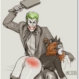 #spanking #spanked #spank #ass #drawing #comic #batman...